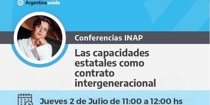Conferencia INAP. 2 de Julio