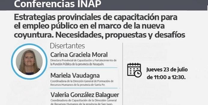 Conferencia INAP. Dir. Provincial de Capacitación y Fortalecimiento de la Función Pública. Gobierno de Neuquén.