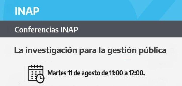 Conferencia INAP. 11 de Agosto