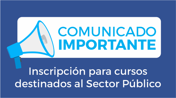 Inscripción para cursos destinados al Sector Público