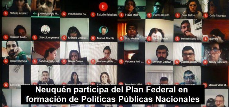 Plan Federal en formación de Políticas Públicas Nacionales