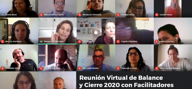 Reunión Virtual de Balance y Cierre 2020 con Facilitadores Internos