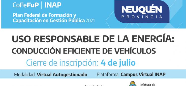 """Plan Federal 2021. """"USO RESPONSABLE DE LA ENERGÍA: CONDUCCIÓN EFICIENTE DE VEHÍCULOS"""""""