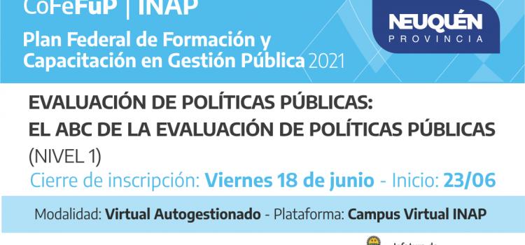 Plan Federal 2021.EVALUACIÓN DE POLÍTICAS PÚBLICAS