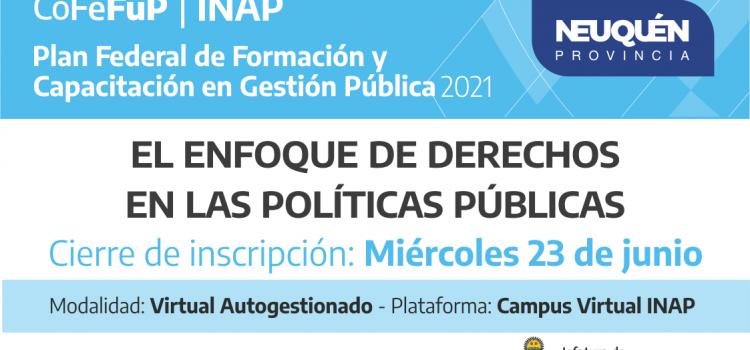 """Plan Federal 2021. """"EL ENFOQUE DE DERECHOS EN LAS POLÍTICAS PÚBLICAS"""""""