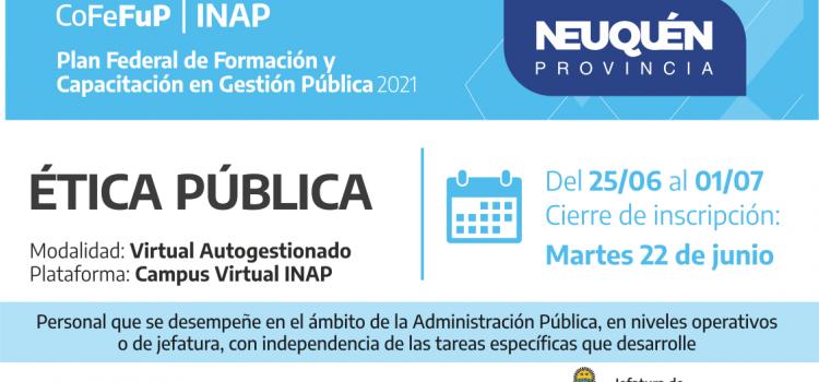 Plan Federal 2021: ÉTICA PÚBLICA