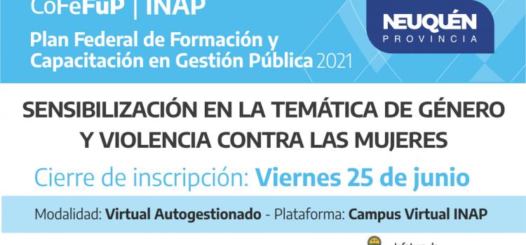 """Plan Federal 2021. """"SENSIBILIZACIÓN EN LA TEMÁTICA DE GÉNERO Y VIOLENCIA  CONTRA LAS MUJERES"""""""