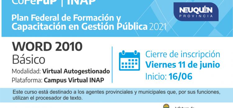 INAP. Word 2010 Básico