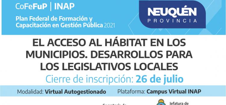 Plan Federal 2021″ EL ACCESO AL HÁBITAT EN LOS MUNICIPIOS. DESARROLLOS PARA LOS LEGISLATIVOS LOCALES»