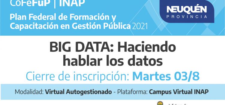 BIG DATA: «Haciendo hablar los datos»