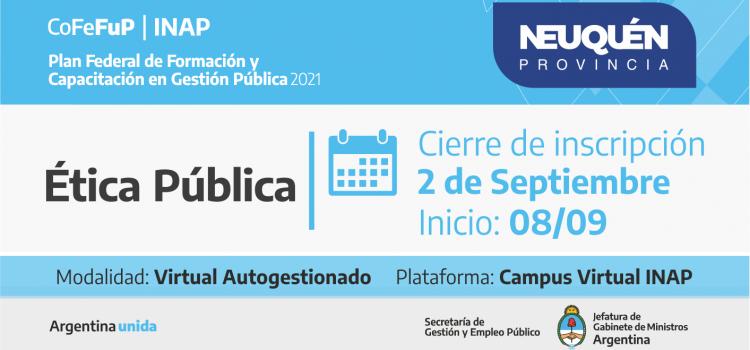 "Plan Federal 2021. ""Ética Pública"""