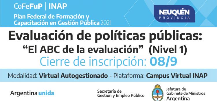 """Plan Federal 2021. """"Evaluación de políticas públicas: El ABC de la Evaluación"""""""