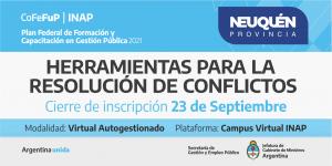 """Plan Federal 2021. """"Herramientas Para la Resolución de Conflictos""""."""