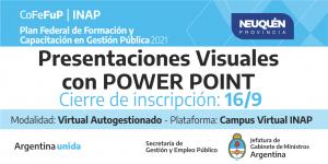 """Plan Federal 2021. """"Presentaciones Visuales con Power Point"""""""