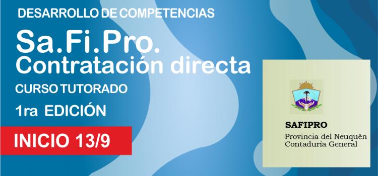 """INICIO. SA.FI.PRO. """"Contratación Directa"""""""