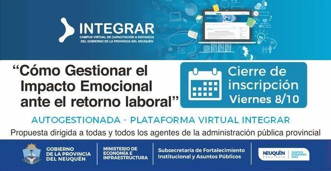 """Integrar. """"Como gestionar el impacto emocional ente el retorno laboral"""" 3ra Edición"""
