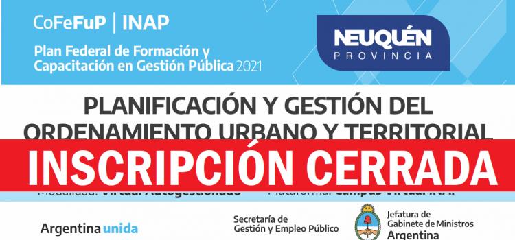 """Plan Federal 2021. """"Planificación y Gestión del ordenamiento urbano y territorial"""""""