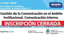 """Plan Federal 2021. """"Gestión de la comunicación en el ámbito Institucional. Comunicación interna""""."""