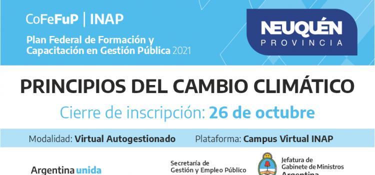 """Plan Federal 2021.""""Principios del Cambio Climático"""""""